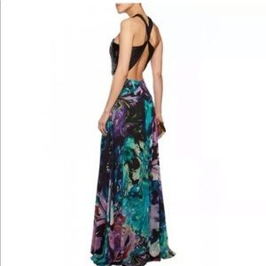 MATTHEW WILLIAMSON EMBELLISHED SILK CHIFFON GOWN